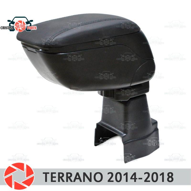 Für Nissan Terrano 2014-2018 auto armlehne zentrale konsole leder lagerung box aschenbecher zubehör auto styling