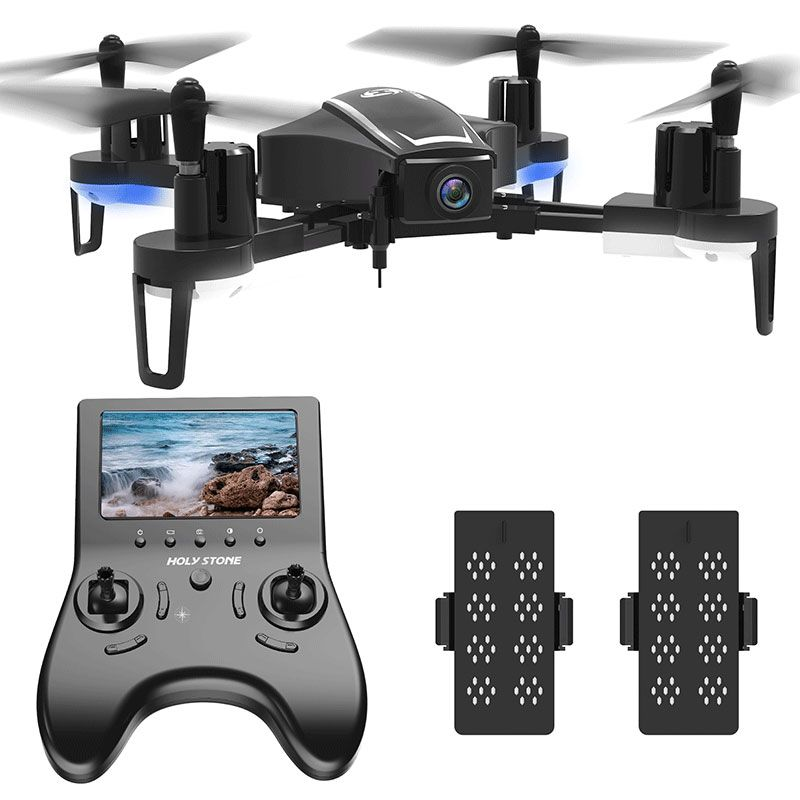 [EU USA Stock] Holy Stone HS230 Racing FPV RC Wifi Drone Selfie Aerial 120 Angle 720P HD 45Km/h Speed 5.8G LCD Screen Quadcopter
