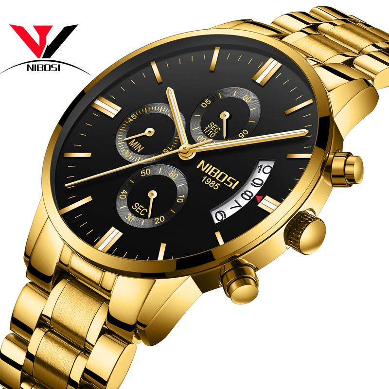 NIBOSI Famous Brand Watches Men Luxury Brand Watches 2018 Relogio Masculino Militar Wrist Watches For Men Brand Waterproof