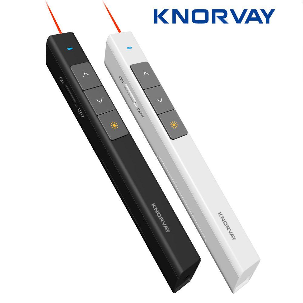 Knorvay N26 2.4GHz sans fil présentateur stylo USB télécommande Powerpoint présentateur présentation Clicker PPT pointeur Laser stylo