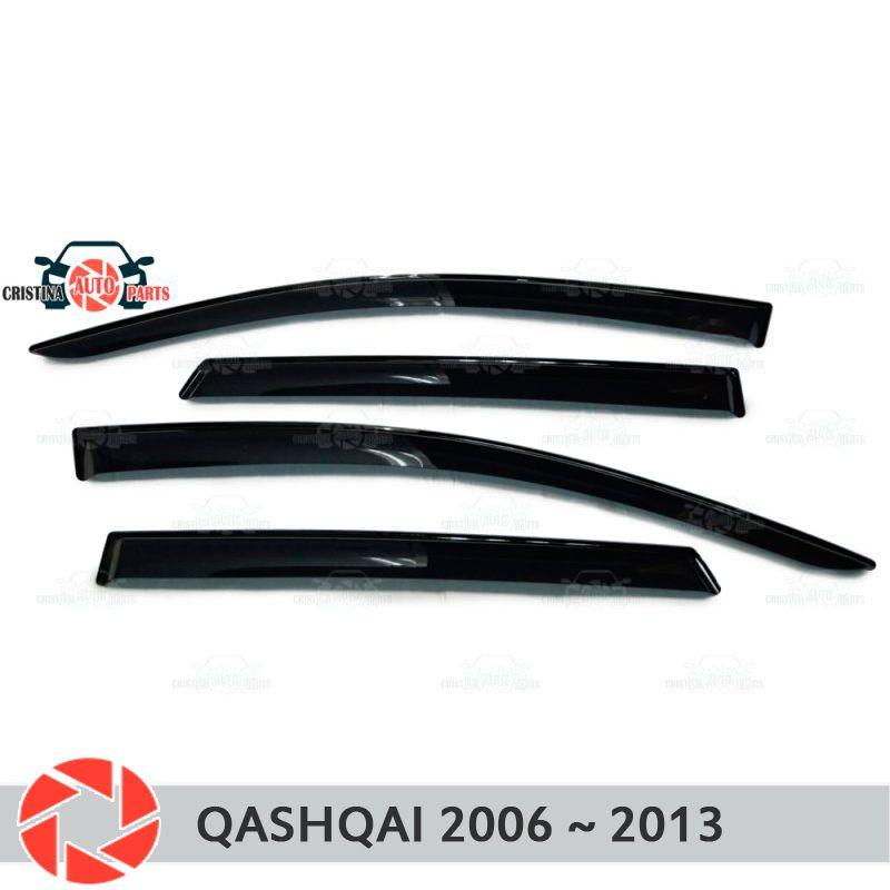 Fenster deflektor für Nissan Qashqai 2006-2013 regen deflektor schmutz schutz auto styling dekoration zubehör molding