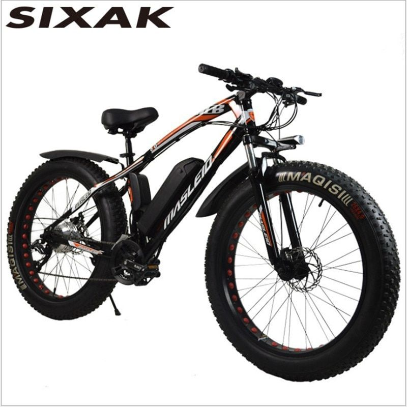 SIXAK26 inch snake electric bicycle, beach lithium battery mountain bike, 24 speed intelligent snow car. Manufacturer wholesale