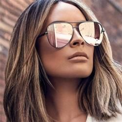 New black Pilot Sunglasses Women Brand Designer Fashion Gradient Sun Glasses Trendy 2019 Luxury Shades Lunettes femme UV400