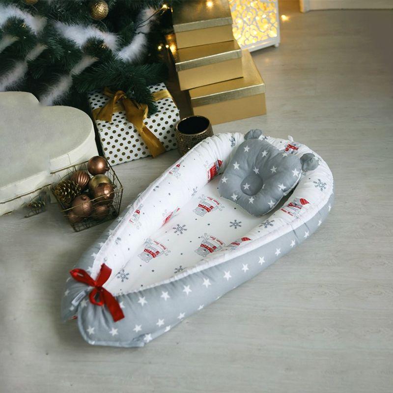 Baby Nest für neugeborene Bett Krippe Bett für babys Infant Stubenwagen Wiege Kokon für schwangere frauen Baumwolle