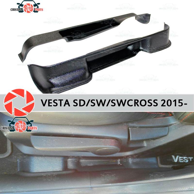 Für Lada Vesta 2015-tasche box sitze lagerung box zubehör schutz teppich dekoration auto styling tasche zwischen die sitze
