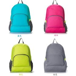 Ransel olahraga tas cahaya lipat nilon luar pria wanita ransel berkemah tas pendakian mendaki olahraga tas travel portabel