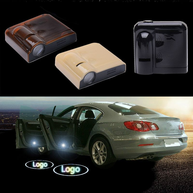 JURUS Wireless for Chevrolet led logo Car Door Welcome emblem Lights No Drill Type Badge Lights Laser Ghost Shadow Projector \