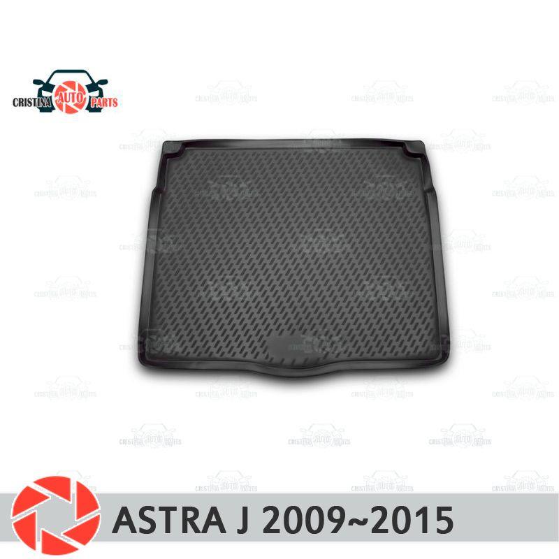 Stamm matte für Opel Astra J 2009 ~ 2015 stamm boden teppiche non slip polyurethan schmutz schutz innen trunk auto styling