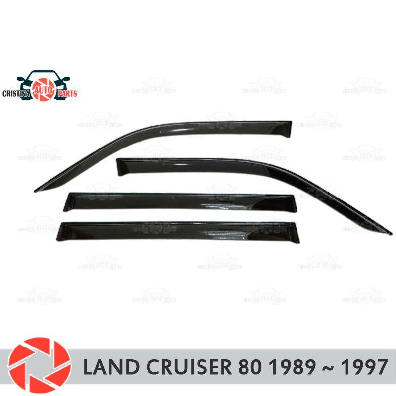 Fenster deflektor für Toyota Land Cruiser 80 1989 ~ 1997 regen deflektor schmutz schutz auto styling dekoration zubehör molding