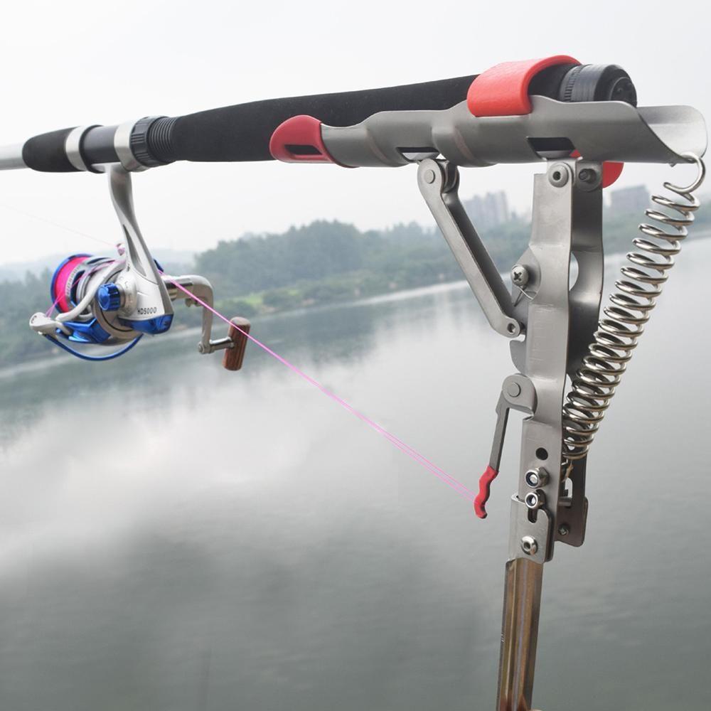 Nouveau pliable automatique Double Angle de ressort pôle de pêche support Anti-rouille en acier support de pêche porte-canne matériel de pêche