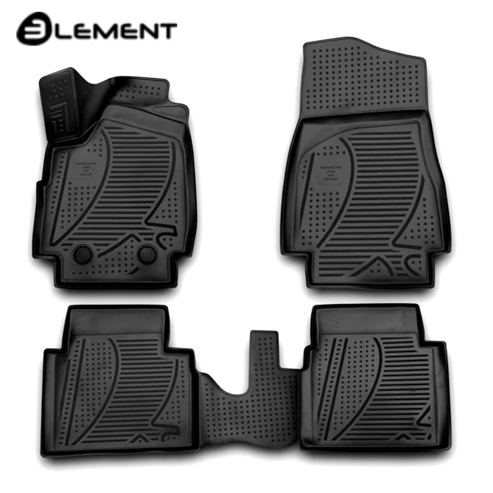 Für Lada Niva 2121 4x4 3-türen 3D Boden matten in saloon 4 teile/satz 2009-2017 element F320250E1