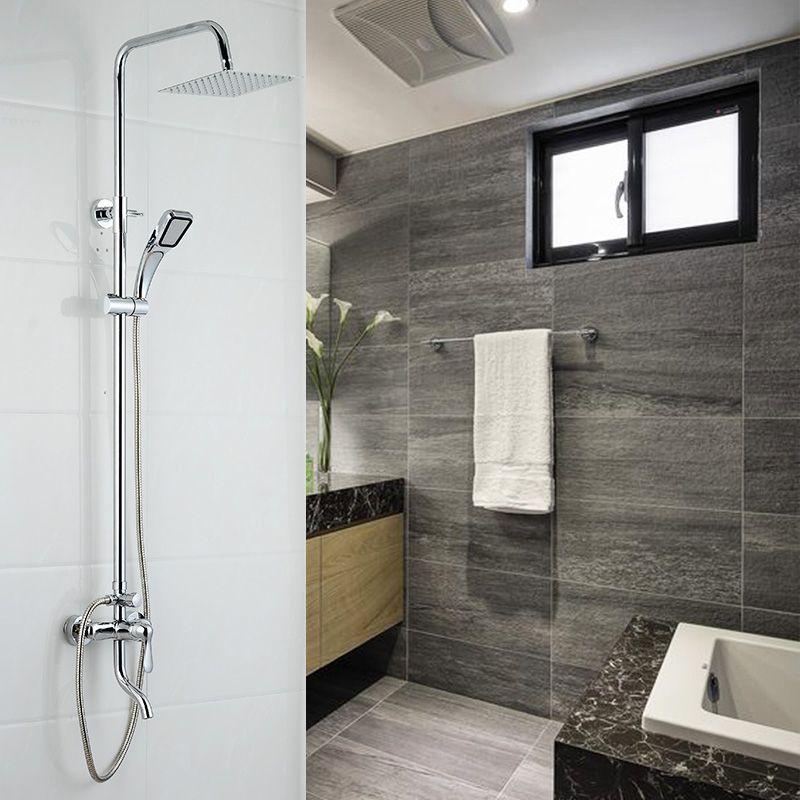 Dofaso support mural 20 cm bain cascade douche mitigeur robinet pluie salle de bain douche complète robinets ensemble salle de bains douche ensemble système