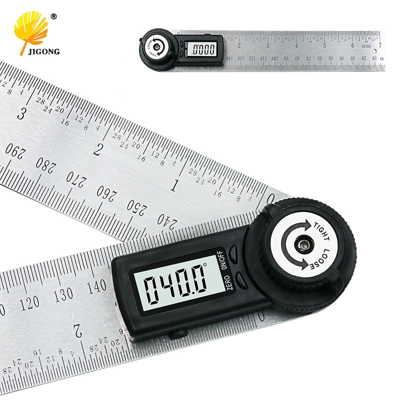 2 IN 1 digital ruler 360 degree 200mm Digital Protractor Inclinometer Goniometer <font><b>Level</b></font> Measuring Tool Electronic