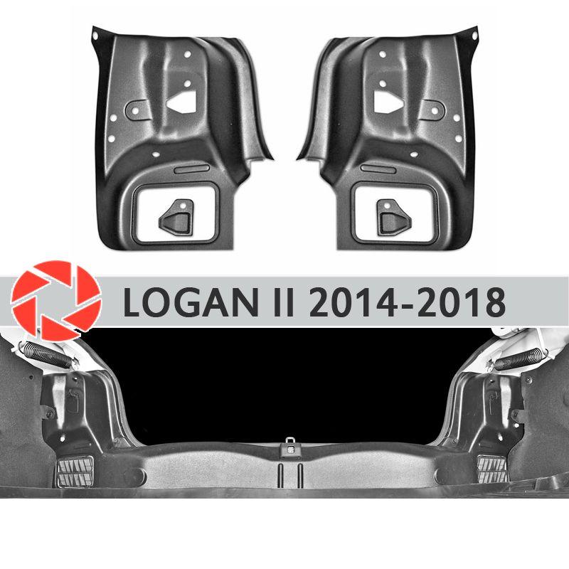 Schwanz licht platte inneren stamm für Renault Logan 2014-2018 seite abdeckungen in die stamm zubehör schutz auto styling dekoration