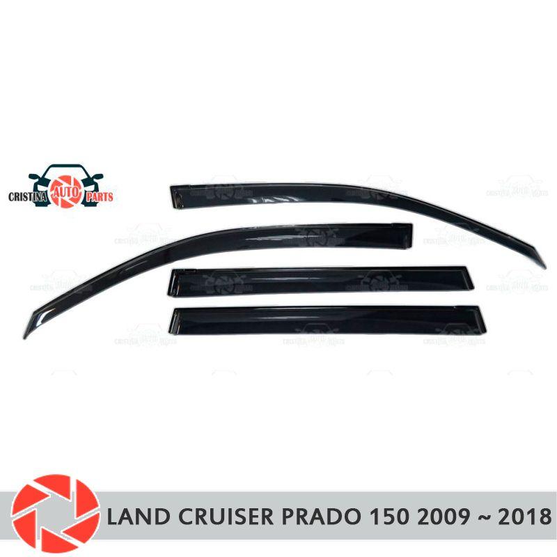 Fenster deflektor für Toyota Land Cruiser Prado 150 2009 ~ 2018 regen deflektor schmutz auto styling dekoration zubehör molding