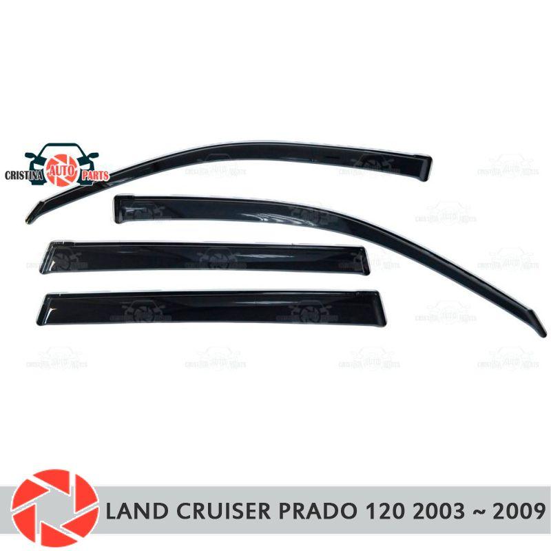 Fenster deflektor für Toyota Land Cruiser Prado 120 2003 ~ 2009 regen deflektor schmutz auto styling dekoration zubehör molding