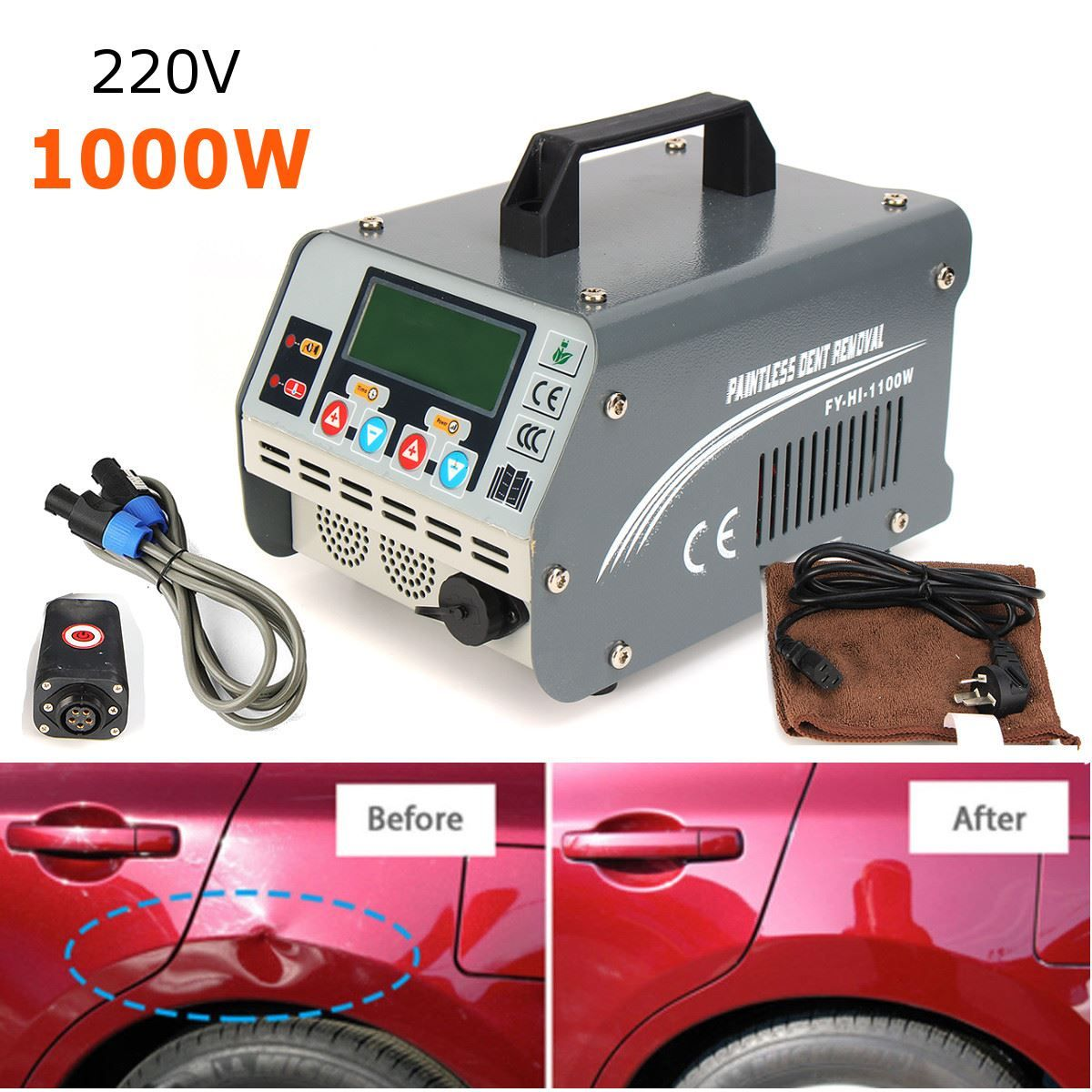 220 V 1100 Watt Auto Paintless Dent Remover PDR Induktionsheizung Heißer Box 2018