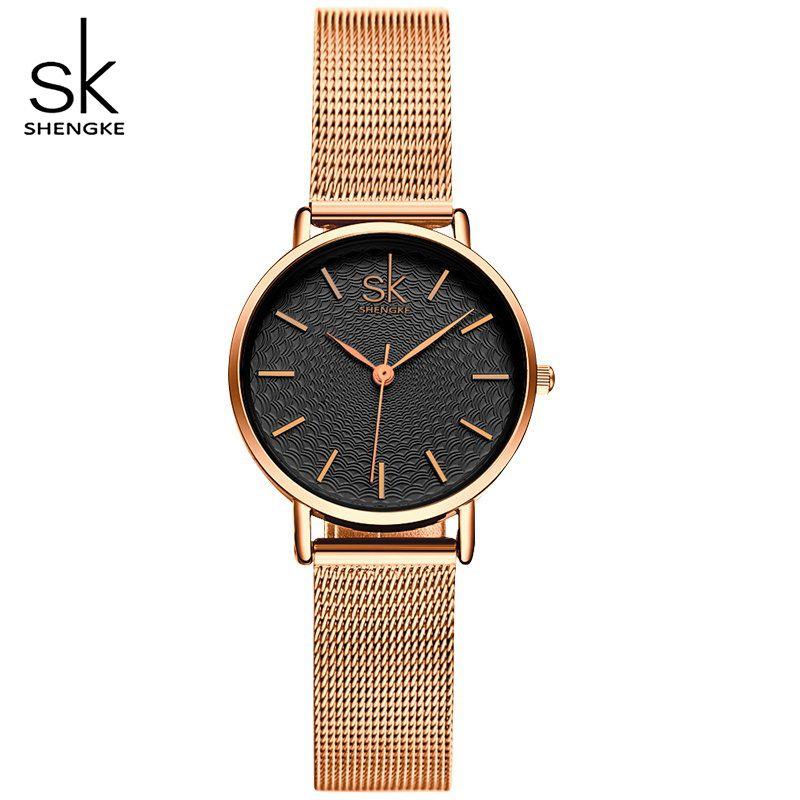 SHENGKE Brand <font><b>Luxury</b></font> Women Watches Ladies Fashion Casual Quartz Watch Relogio Feminino Female Jewelry Clock Lady Wrist watches
