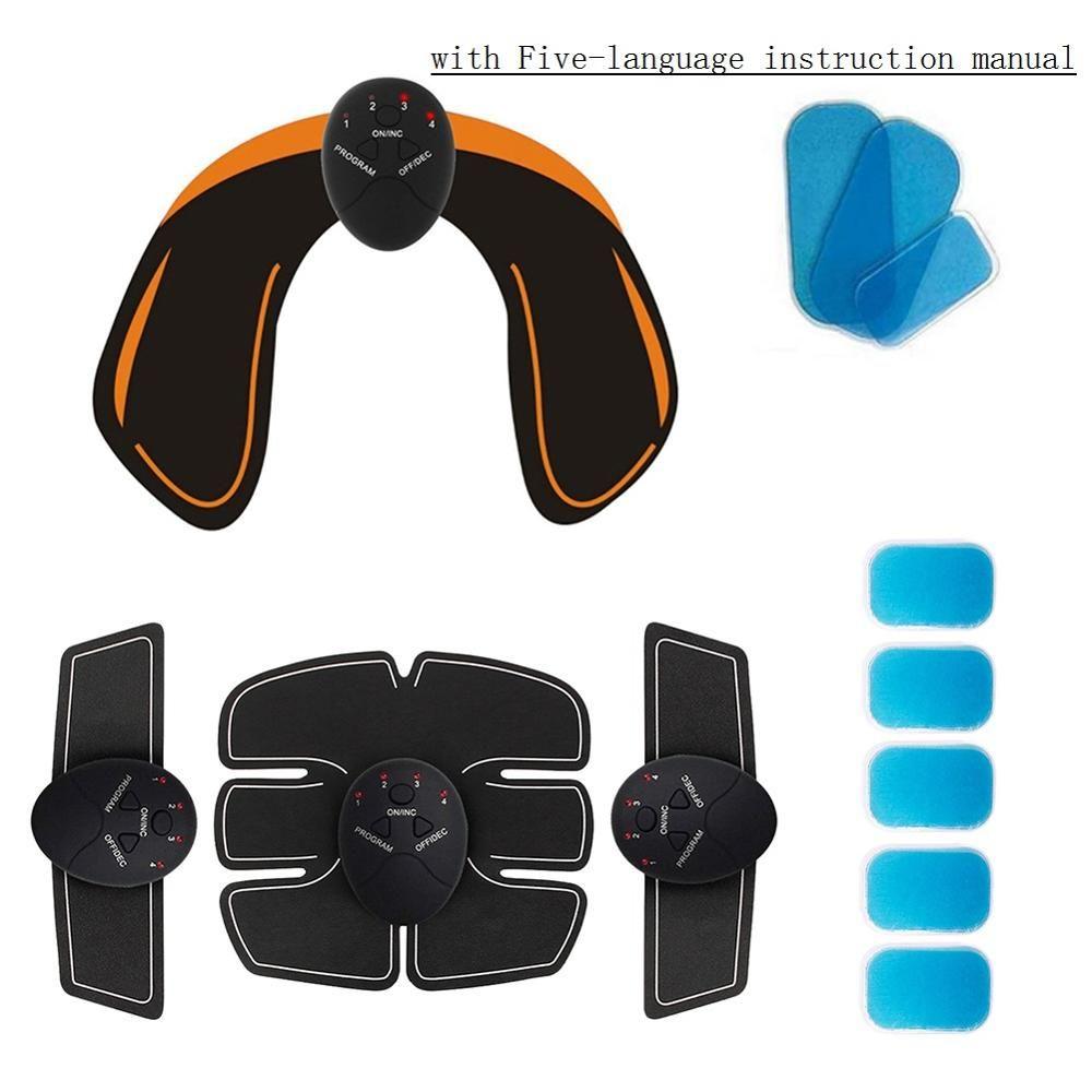 Cinq langues EMS hanches formateur électrique stimulateur de hanche fessier formateur de levage + corps forme entraînement musculaire ensemble de matériel minceur