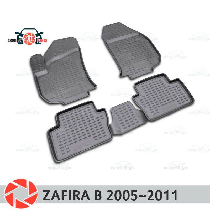 Boden matten für Opel Zafira B 2005 ~ 2011 teppiche non slip polyurethan schmutz schutz innen auto styling zubehör