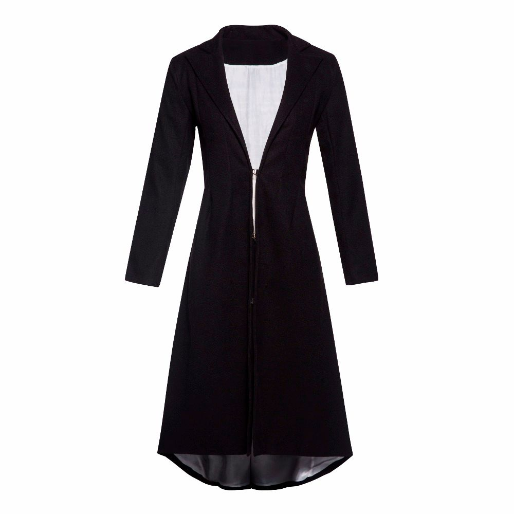Doublure blanche longue laine manteau femmes queue d'aronde revers tenue de bureau grande taille hiver chaud Skinny dames Simple élégant décontracté pardessus