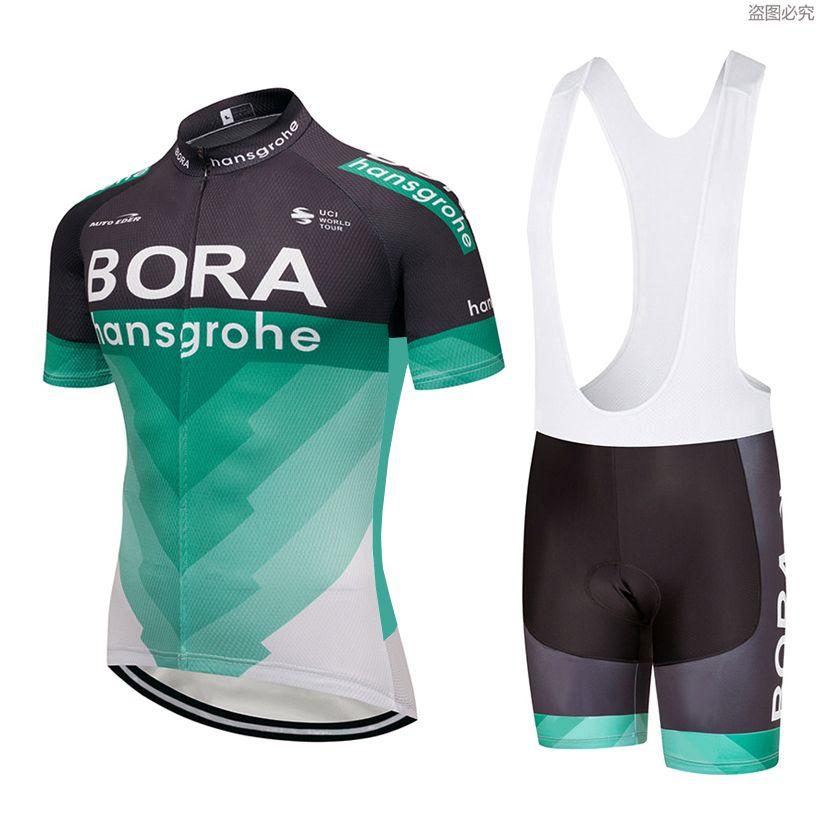 2018 Team BORA cycling jersey 9D gel pad bike shorts set MTB SOBYCLE Ropa Ciclismo sobycle mens summer bicycling Maillot wear