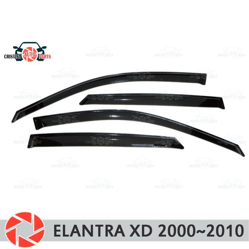 Fenster deflektor für Hyundai Elantra XD 2000-2010 regen deflektor schmutz schutz auto styling dekoration zubehör molding