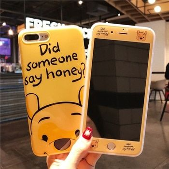 360 Full Cover Phone Case + Screen Protector for IPhone X 8 7 Plus 6 6S Plus for IphoneXR IphoneXS IphoneXSMAX Cartoon TPU Cover