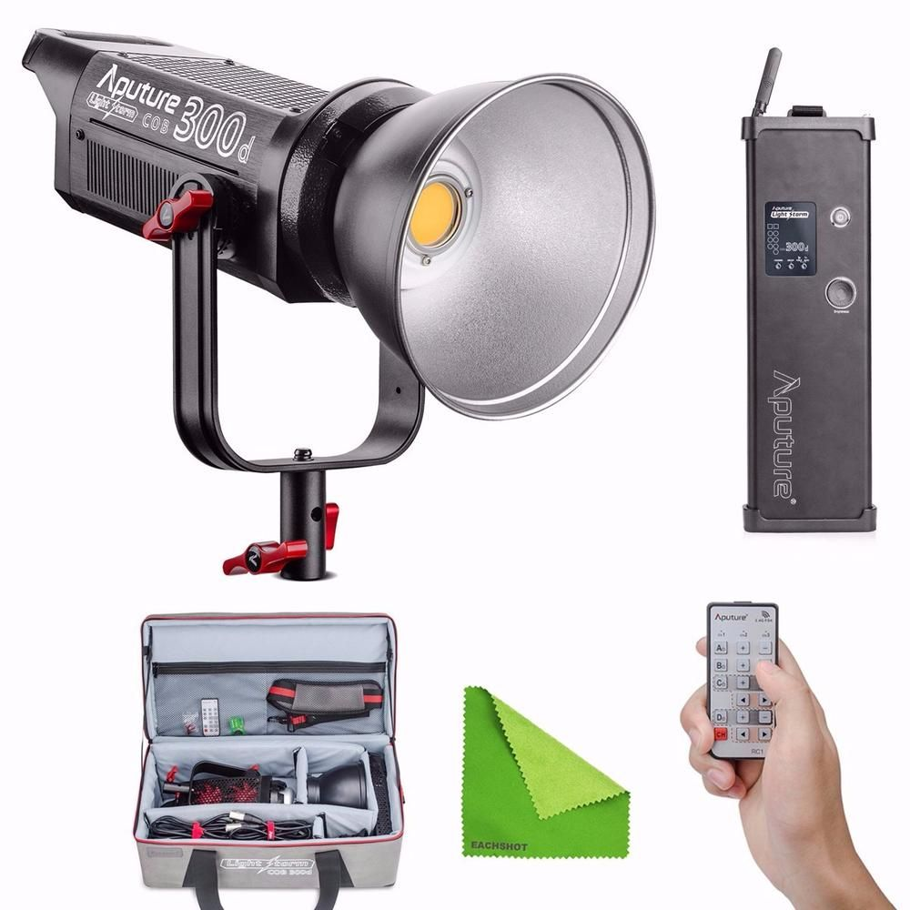 Aputure COB C300D 300D 300W 5500K Daylight Balanced LED Continuous Video Light CRI95+ TLCI96+ 2.4G Remote Control 18dB Low Noise