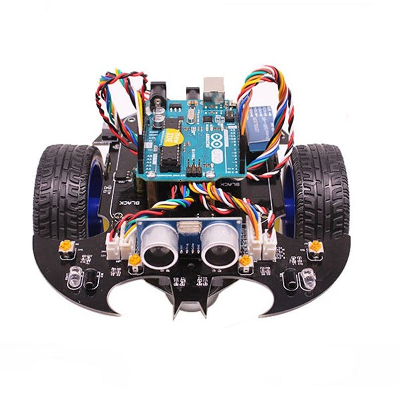 YahBoom Smart Bat Robot Intelligent Programming Bluetooth Control Car Kit with for Arduino UNO R3 Board For Kids Science Educate