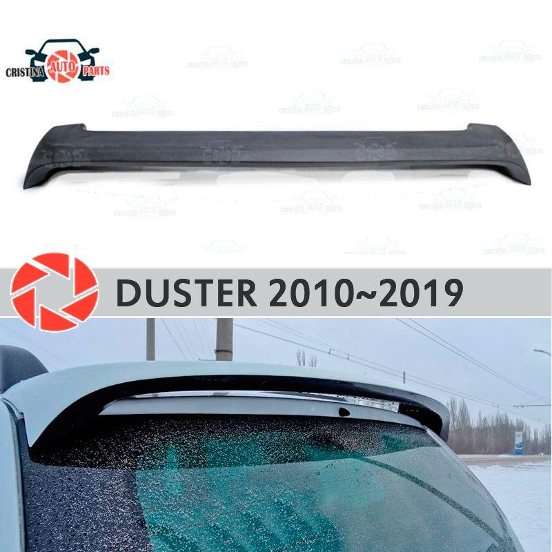 Spoiler auf hinten fenster für Renault Duster 2010-2019 baldachin platte lip spoiler kunststoff ABS schutz sill zubehör auto styling