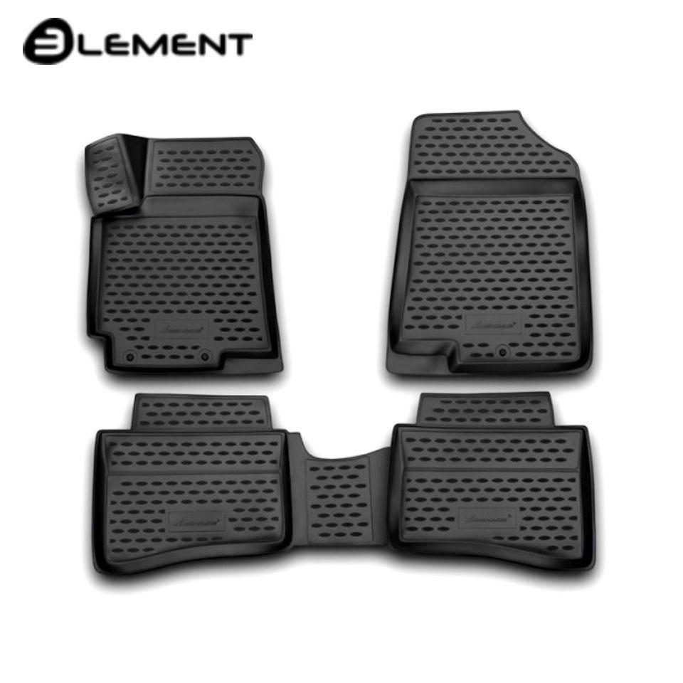 Für Hyundai Solaris 2011-2016 3D boden matten in saloon 4 teile/satz Element NLC3D2059210