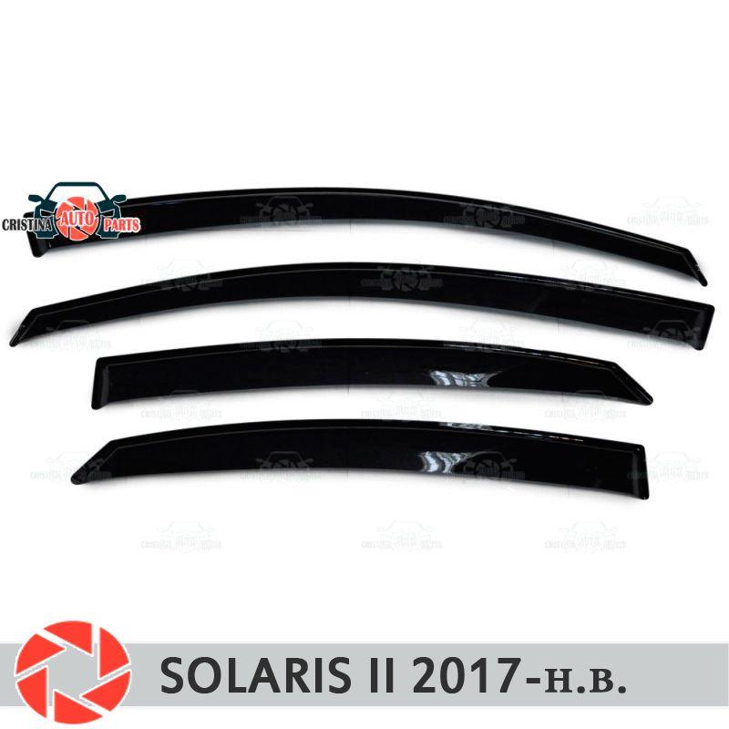 Fenster deflektoren für Hyundai Solaris 2 2017-regen deflektor schmutz schutz auto styling dekoration zubehör molding