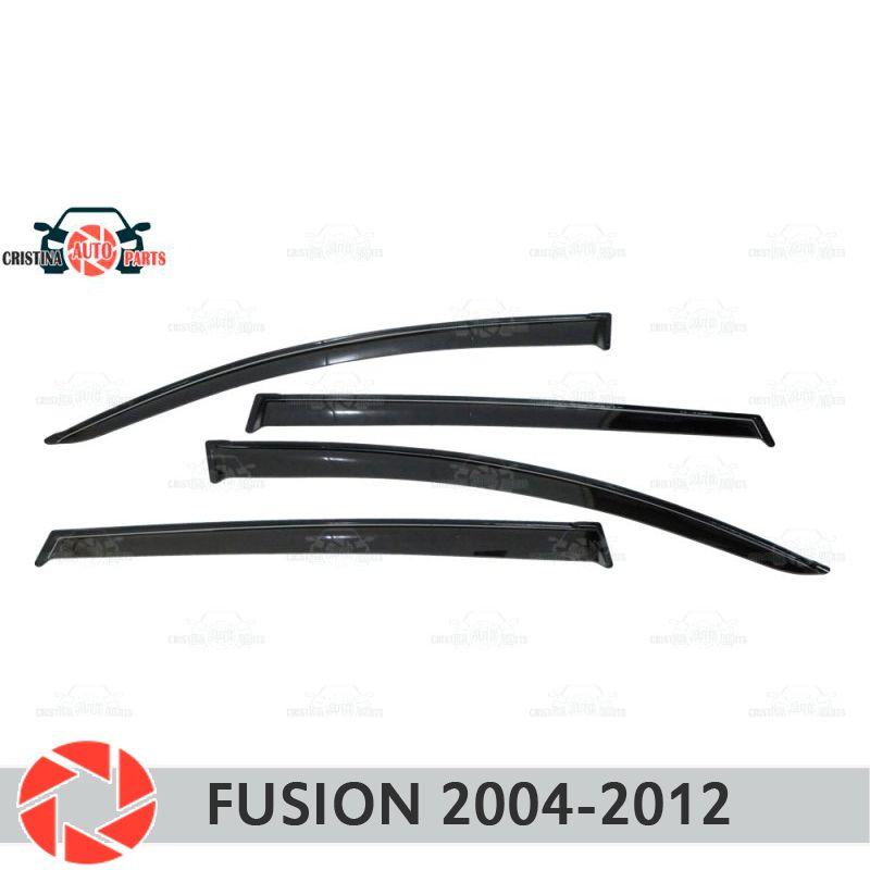 Fenster deflektor für Ford Fusion 2004-2012 regen deflektor schmutz schutz auto styling dekoration zubehör molding