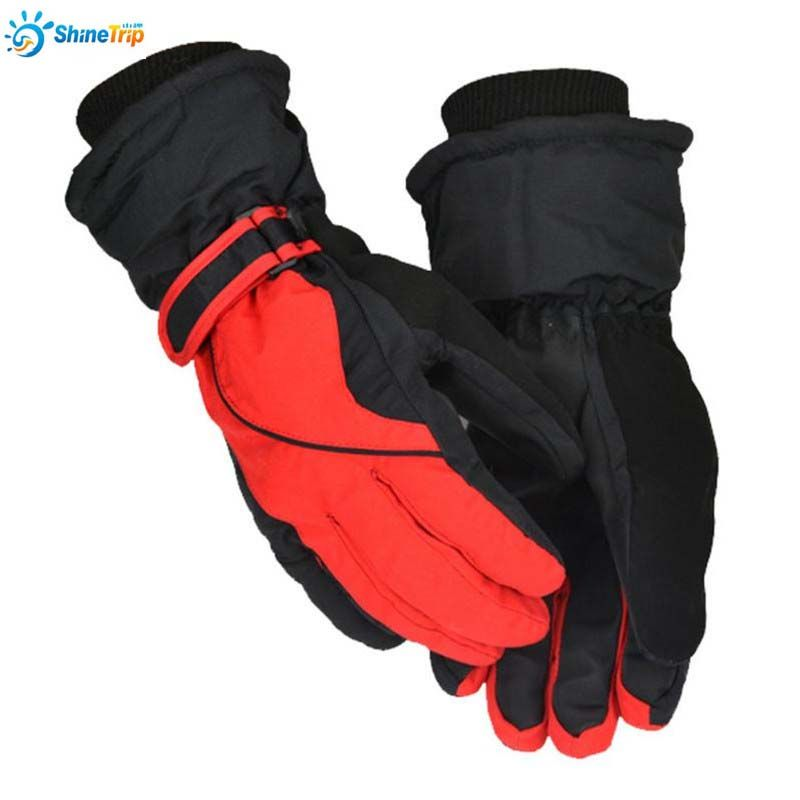 ShineTrip 2017 New Winter Men Keep Warm Gloves Outdoor Sport Snowboard Polyester Motorcycle Gloves Waterproof Unisex Snow Gloves