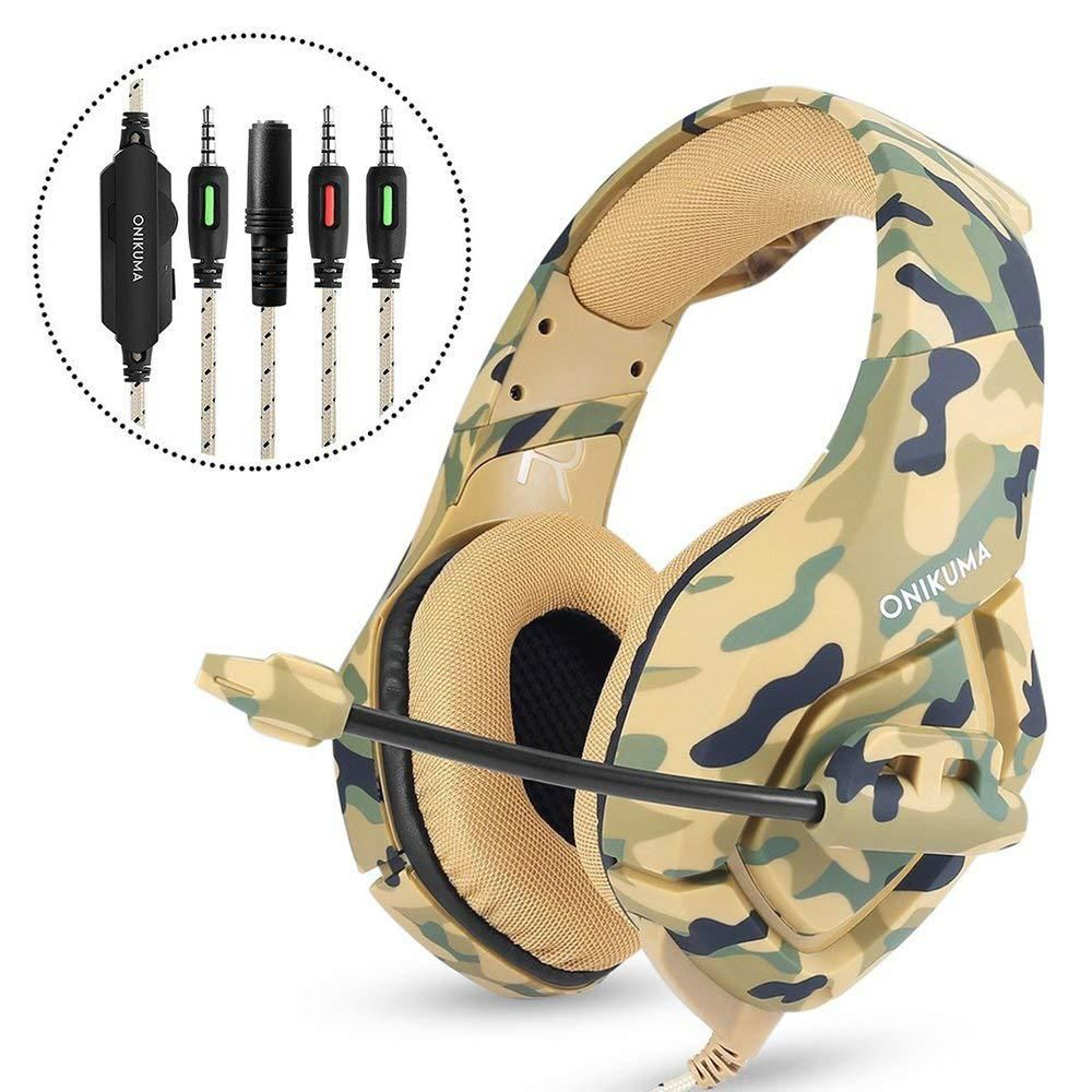 ONIKUMA PS4 Headset Gaming Headphones for a Moblie Phone New xbox one Laptop PC Computer Earphones Bass Casque with Microphone