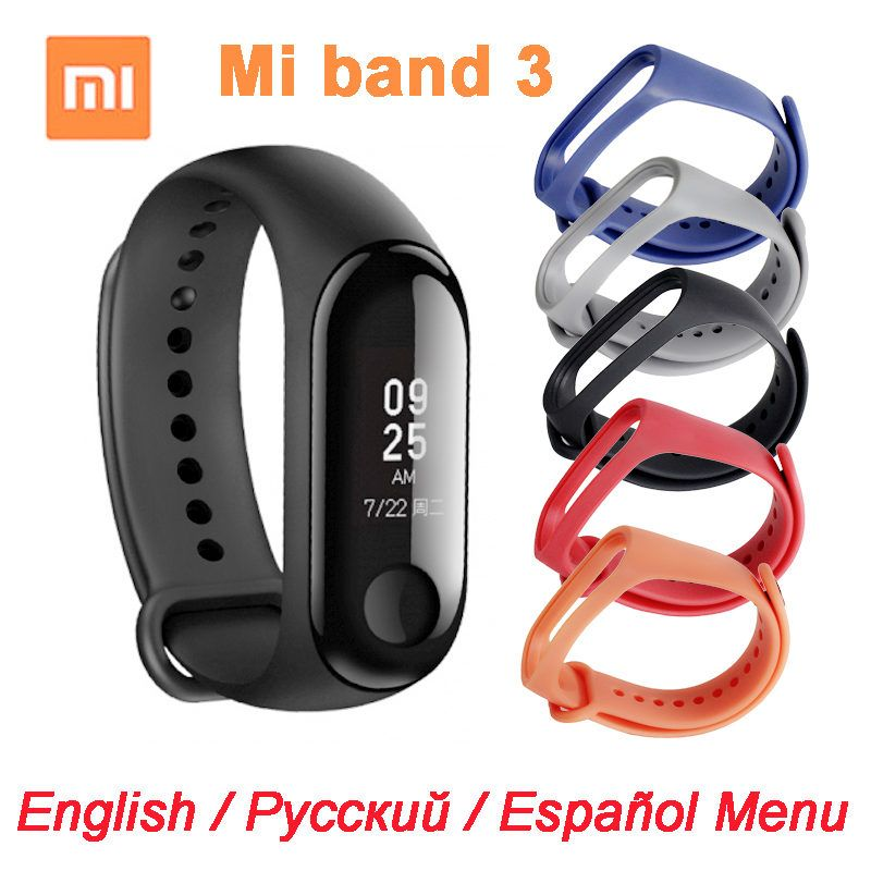 New Original Xiaomi Mi Band 3 Miband 3 Smart Bracelet -Black 0.78 inch OLED Instant Message Caller ID Weather Forecate