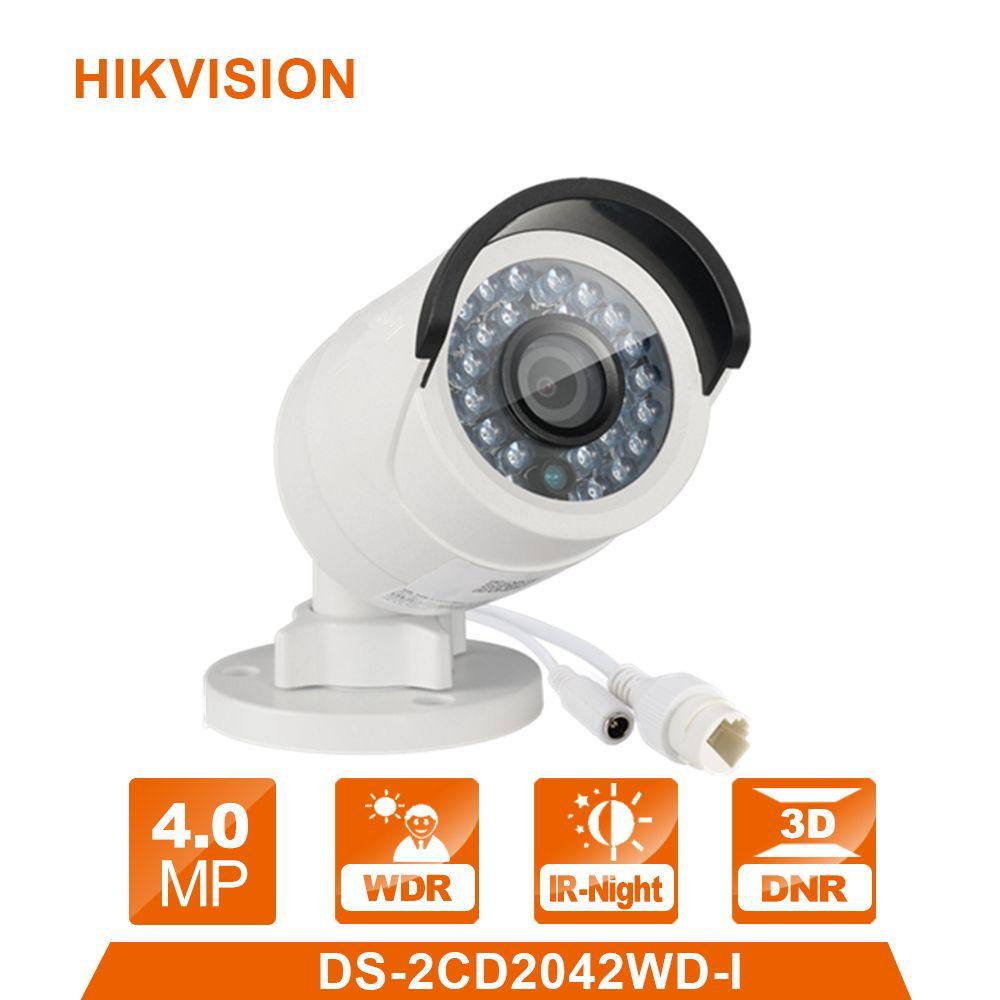 Hik Original DS-2CD2042WD-I 4MP Network Bullet Camera IP Security System upgrade outdoor Webcame