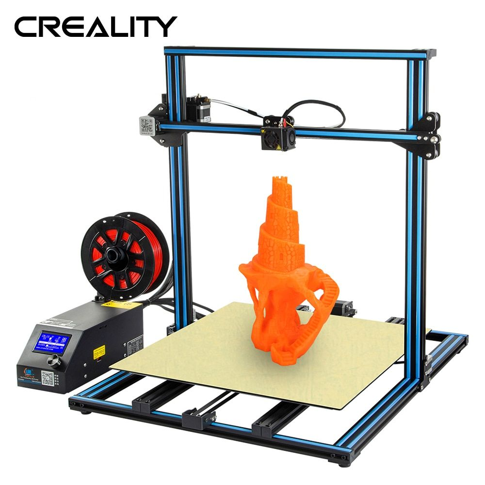 Creality 3D CR-10S FDM 3D Printer kit Pre-assembly Large Print Size 300*300*300MM With Filament Detection Resume Print Power Off