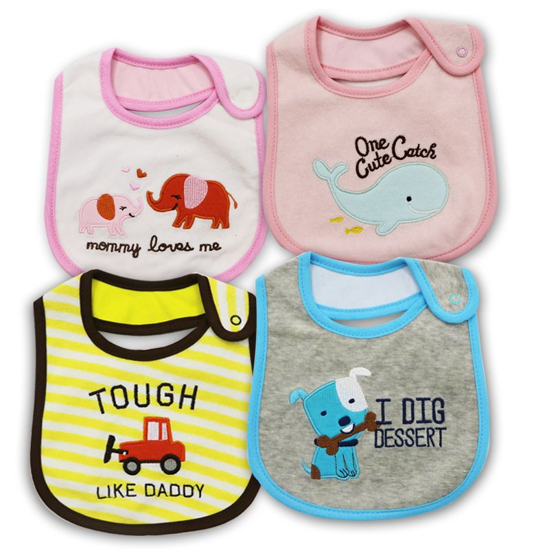 Free shipping 100%Cotton Baby Bib Infant Saliva Towels Baby Waterproof Bibs Newborn Wear Cartoon Accessories animal shape