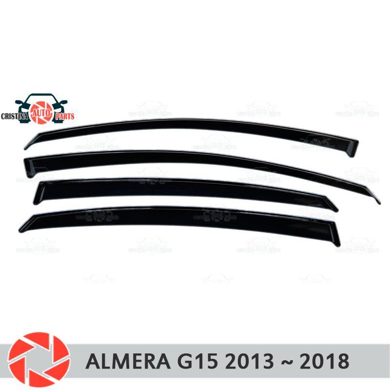 Fenster deflektor für Nissan Almera G15 2013-2019 regen deflektor schmutz schutz auto styling dekoration zubehör molding