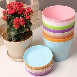 1PCS Plastic Flower Pot Succulent Plant Flowerpot For Home Office Decoration Garden Supplies send seeds 3 Sizes flower pot