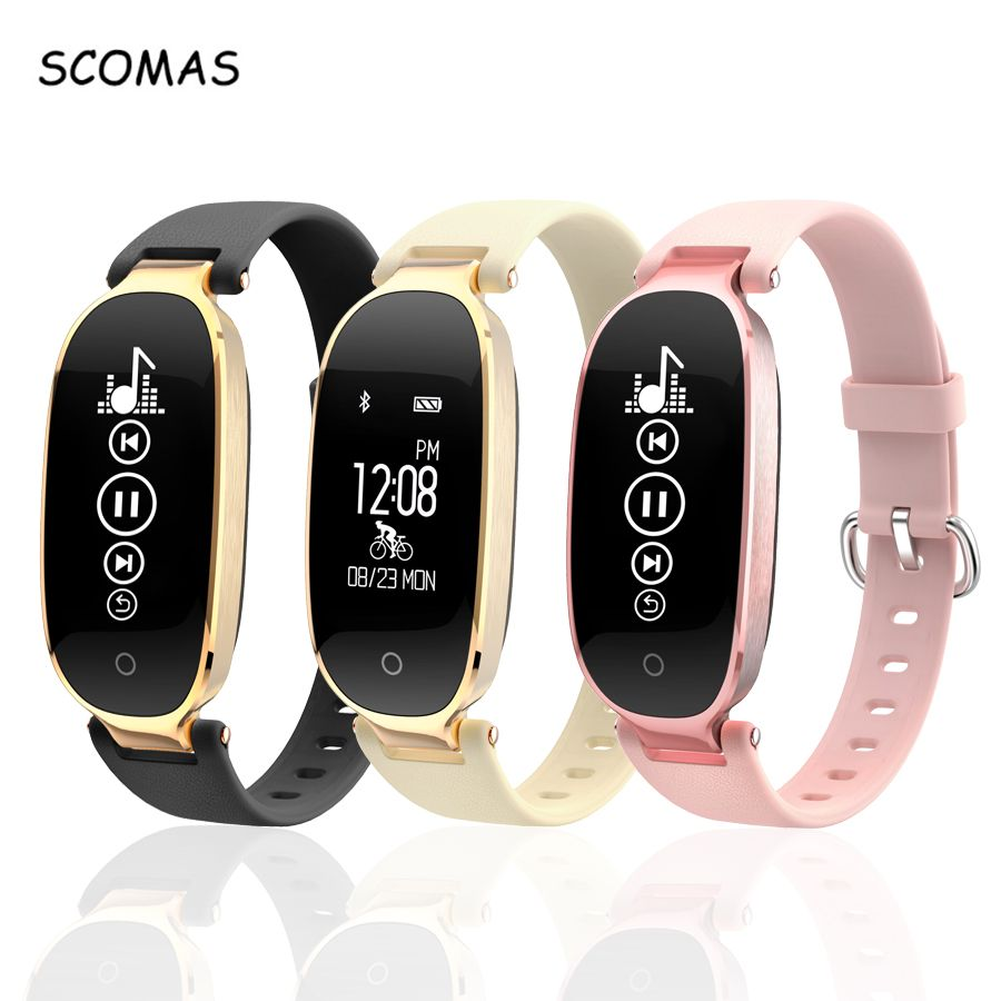 SCOMAS S3 Smart Watch For Android IOS Phone Heart Rate Monitor Fitness Tracker Bluetooth 4.0 Women Smartwatch Relogio