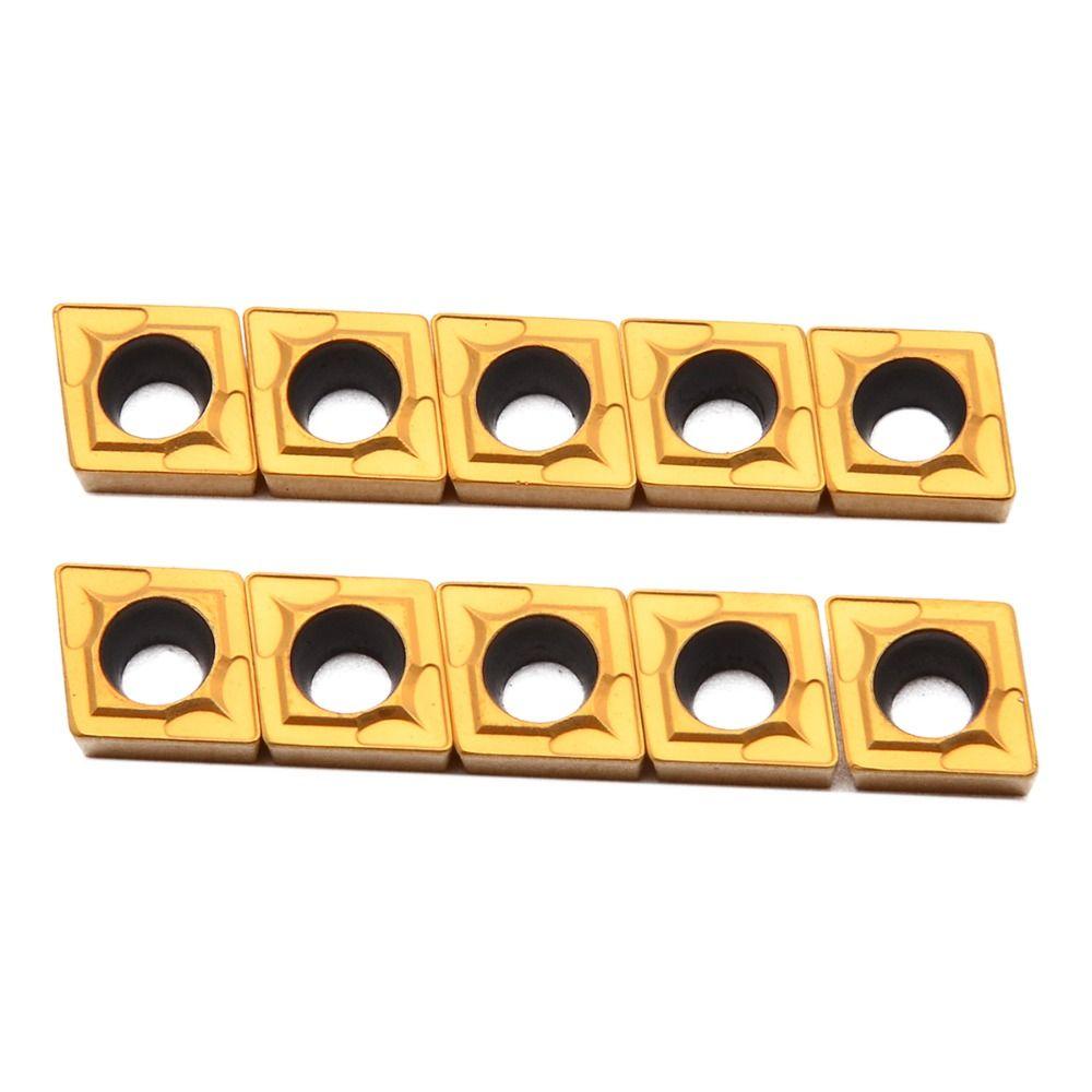 10 teile/satz CCMT060204-HM YBC251 Hartmetall Einsätze Für CNC Drehmaschine Drehen Werkzeug 6x6mm
