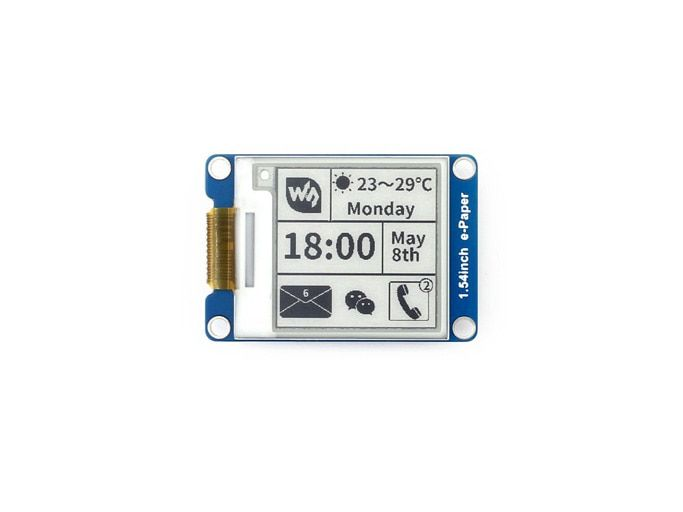 1.54inch e-Paper Module 200x200,E-Ink display ,SPI interface for Raspberry Pi etc.Two-Display color: black,white,partial refresh
