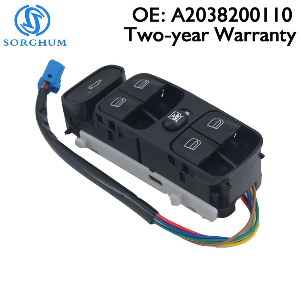 A2038200110 2038200110 Power Control Window Switch Front left For MERCEDES SL500 C CLASS W203 C200 C220 2038210679 A2038210679