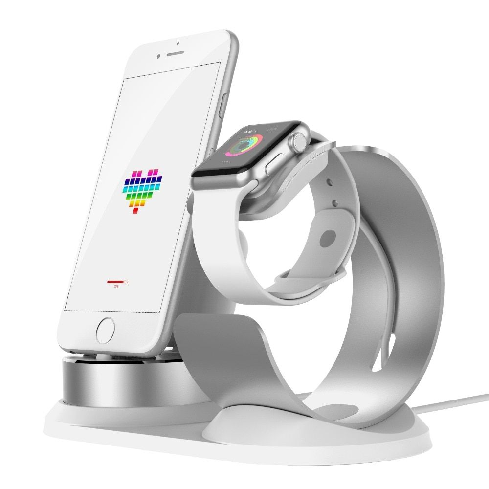 DIY 3 in 1 adjustable Pop socket Dock phone Holder For Apple Watch stand for Airpods Charge stand for iPhone soporte movil auto