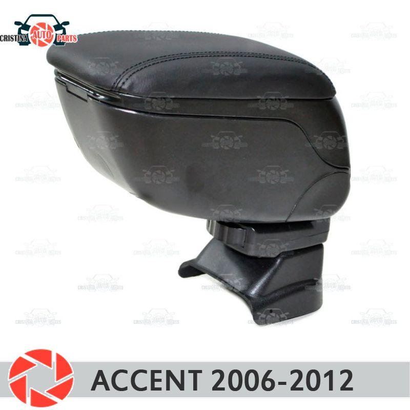 Für Hyundai Accent Tagaz 2006-auto armlehne zentrale konsole leder lagerung box aschenbecher zubehör auto styling
