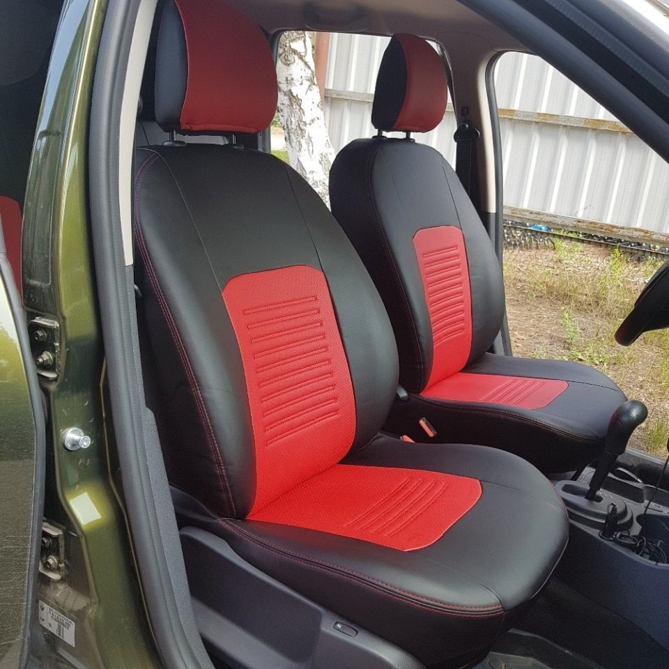 Für Renault Duster 2011-2014 spezielle sitzbezüge mit separaten rückenlehne 60/40 ohne seite airbags (Modell Turin Eco -leder)