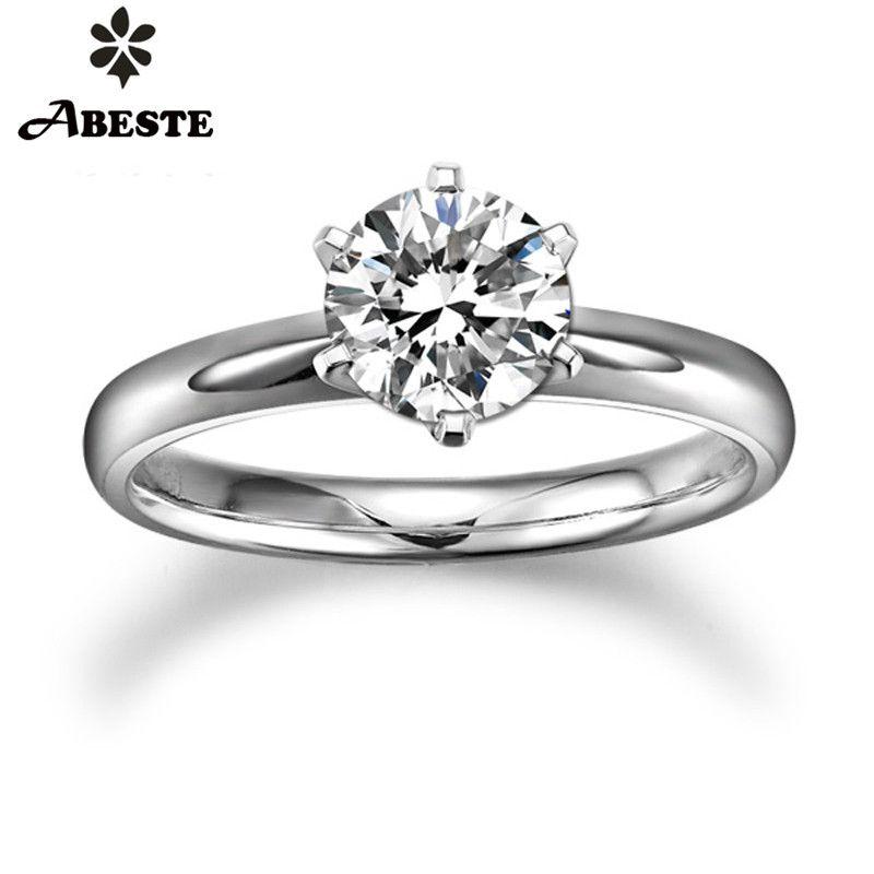 ANI 18 K Weiß/Gelb/Rose Gold (AU750) frauen Hochzeit Ring 0,2 CT H-I/SI Zertifiziert Echt Natürliche Runde Cut Diamond Engagement Ring